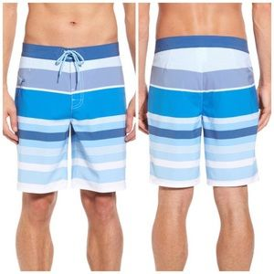 Vineyard Vines Blue Stripe Board Swim Trunks 32